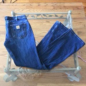 Carharrt Curvy Fit Boot Cut Stretch Jeans Size 10